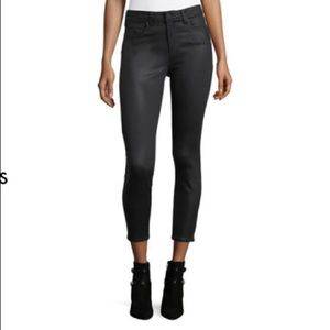 BNWT L'Agence Margot Black Coated Skinny Jeans